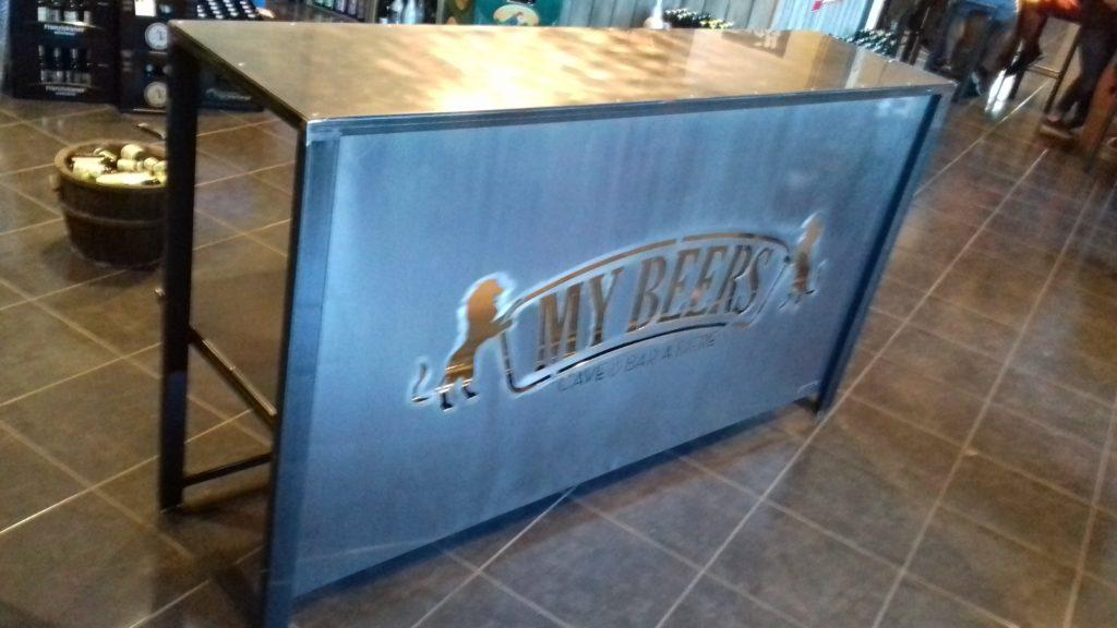 bar acier brut vernis découpe laser
