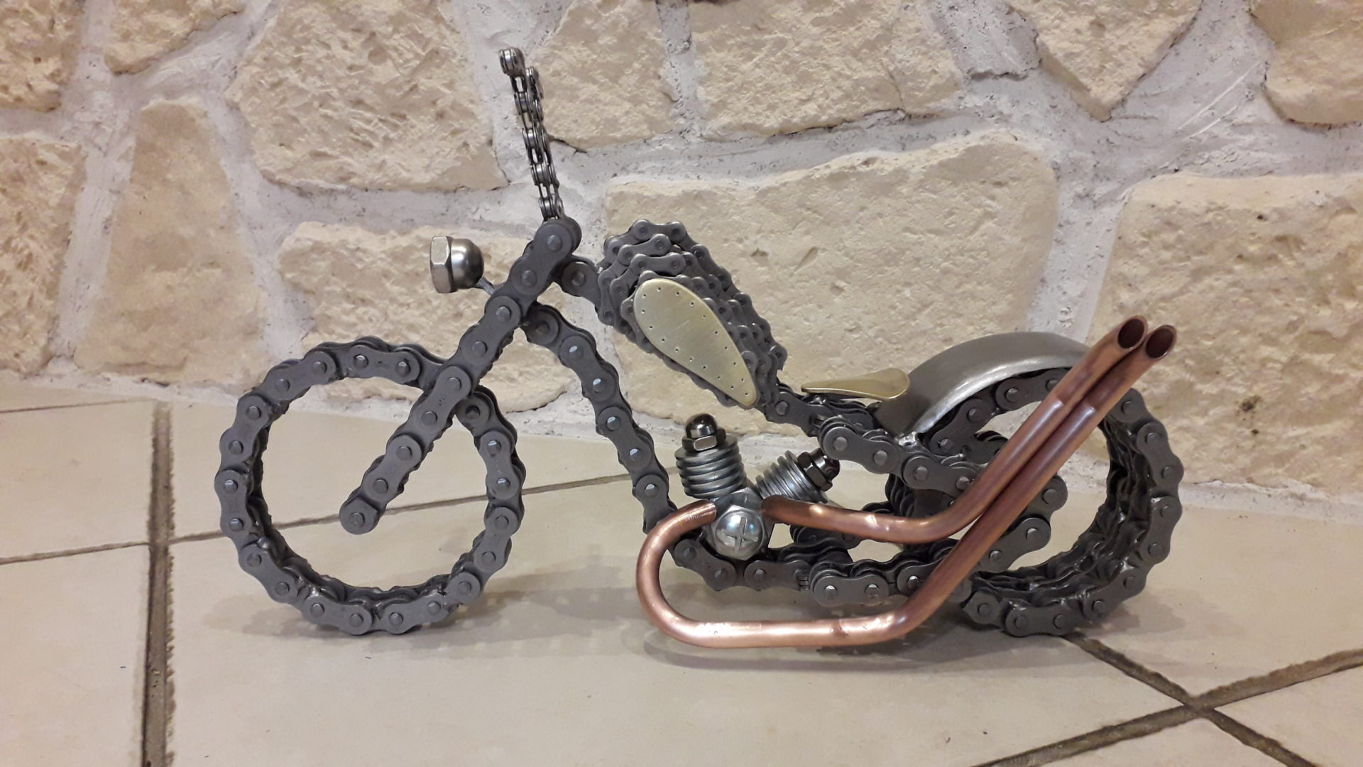 mini moto chaine moto laiton cuivre