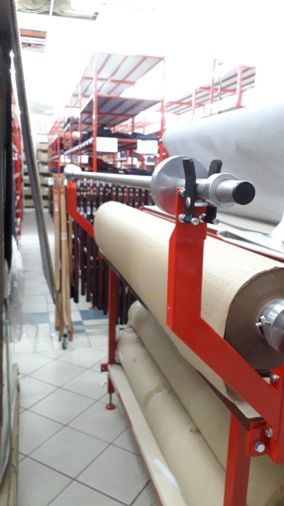 support dérouleur rouleau tissu fabrications métalliques