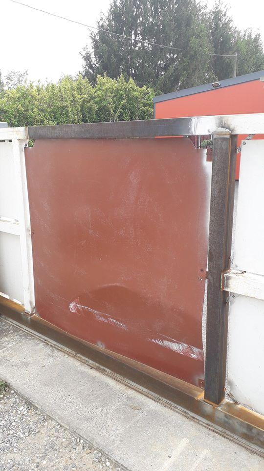 réparation portail acier suite sinistre