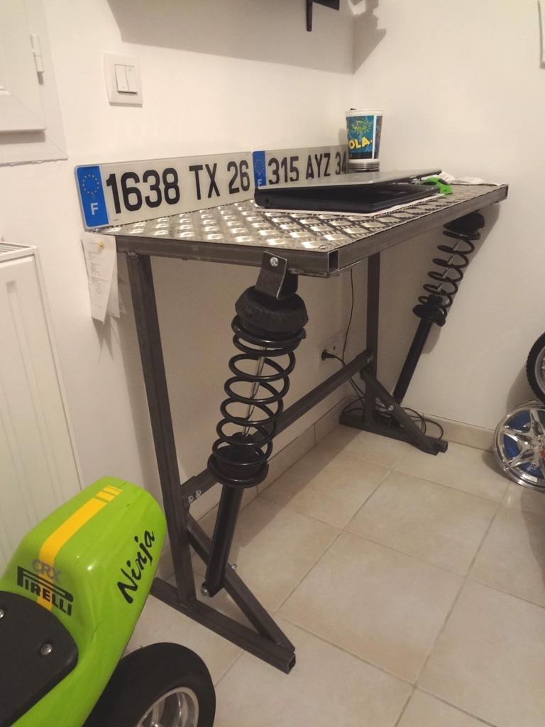 meuble bureau acier alu amortisseurs