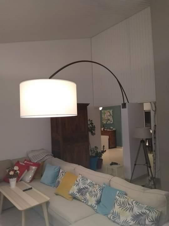 support lampe acier cintré fabrications métalliques