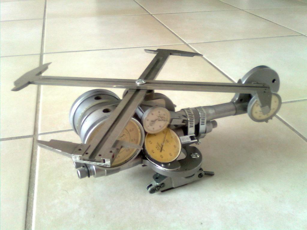 mini helicoptère en recup materiel de contrôle
