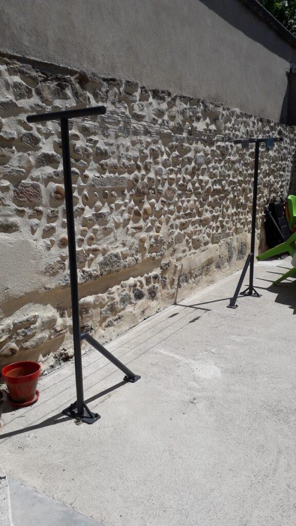étandage acier cables inox et peinture epoxy