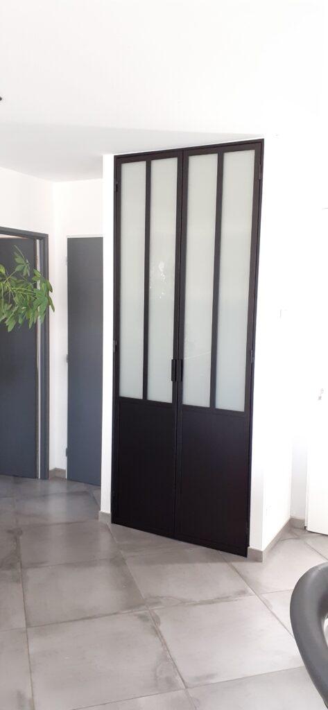 porte de placard type verrière