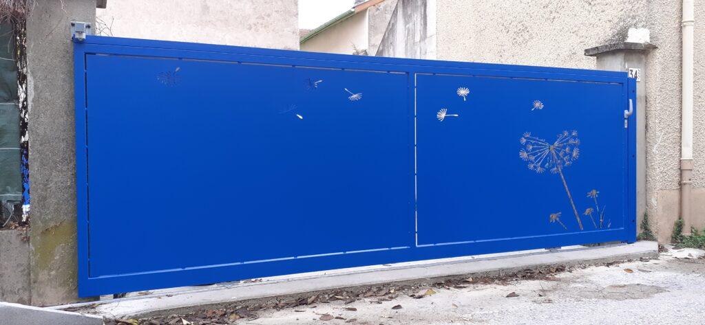 portail acier et epoxy et découpe laser