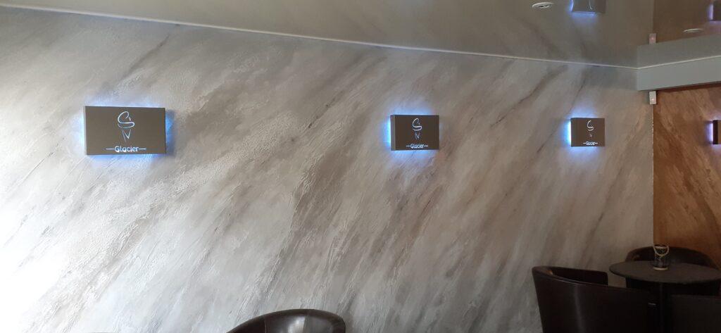 appliques découpe laser acier et epoxy