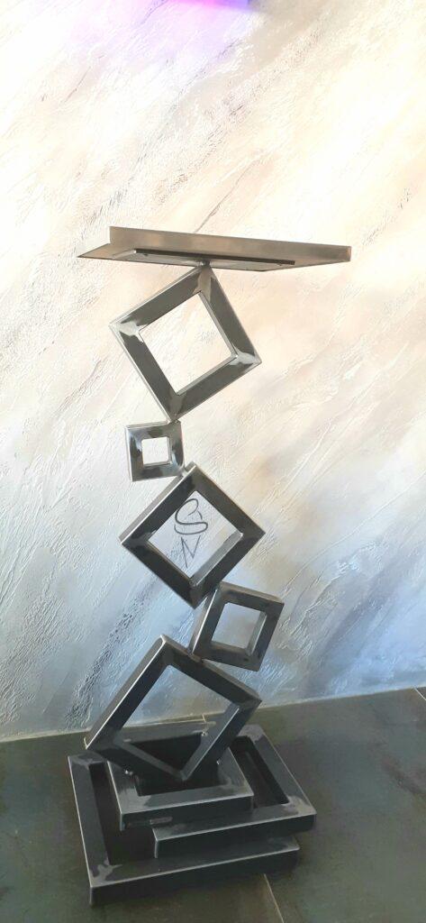 meuble design acier
