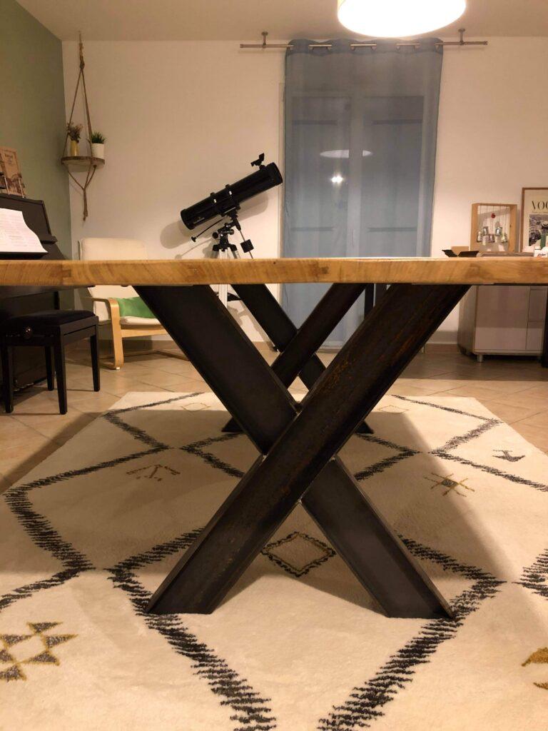 pietage table acier et peinture epoxy